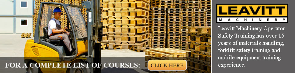 Forklift Certification Calgary | Heavy Equipment Training Courses