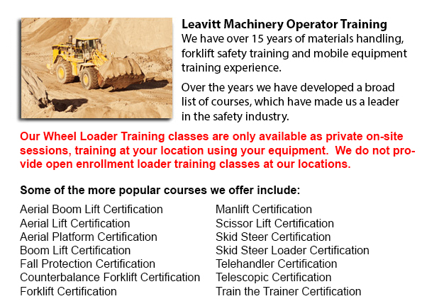 Calgary Wheel Loader Operator Training