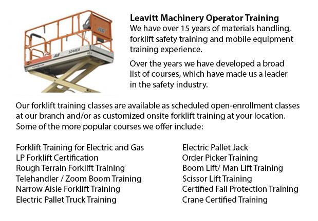 Mount Vernon Scissor Lift Safety Training