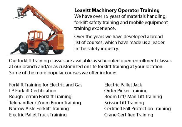 Regina Telehandler Training Courses