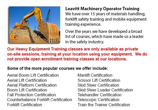 Seattle Heavy Equipment Operator Classes