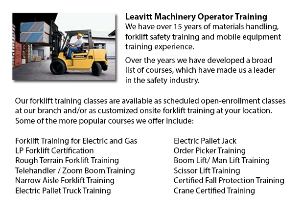Vancouver Counterbalance Forklift Training