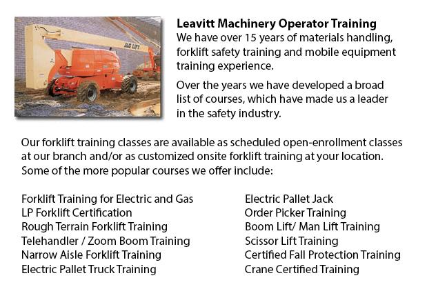 Manlift Operator Certification Calgary