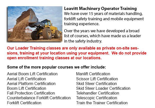 Loader Operator Certification Grande Prairie
