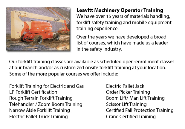 Manlift Operator Certification Grande Prairie