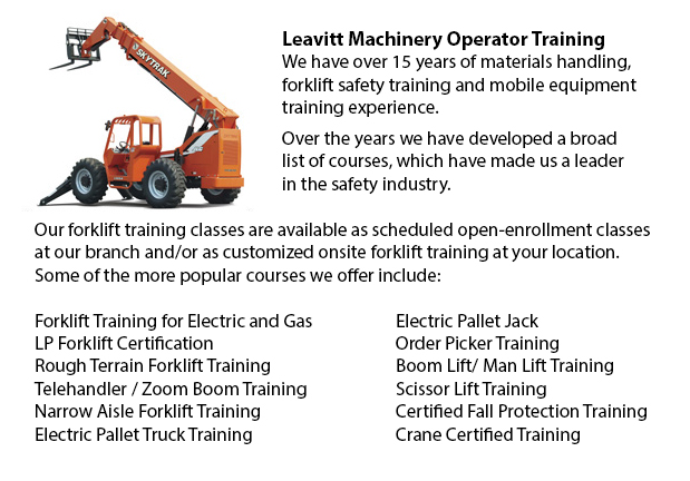 Telehandler Training Courses Seattle