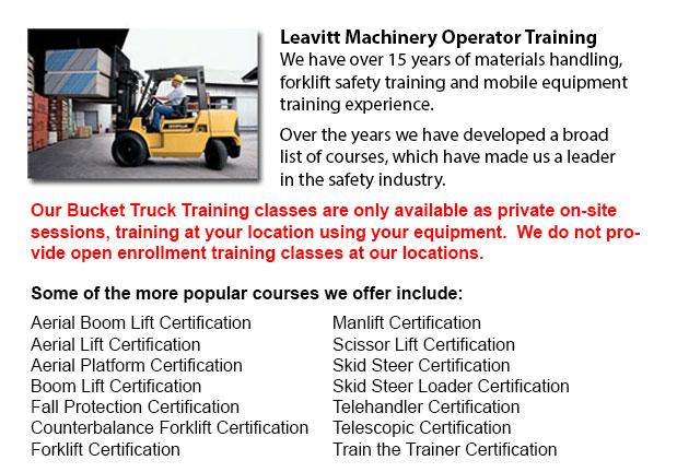 Bucket Truck Training Saskatoon