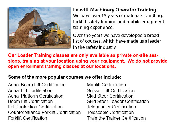 Loader Operator Certification Saskatoon