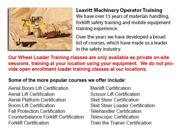 Wheel Loader Operator Training Saskatoon